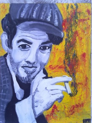 Retrato de Tom Waits