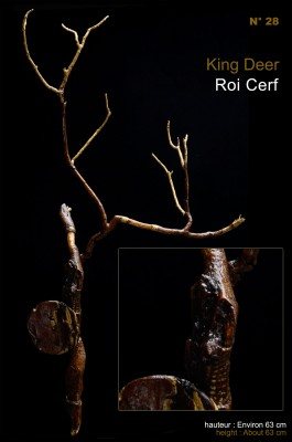 Sculpture King Deer Roi Cerf