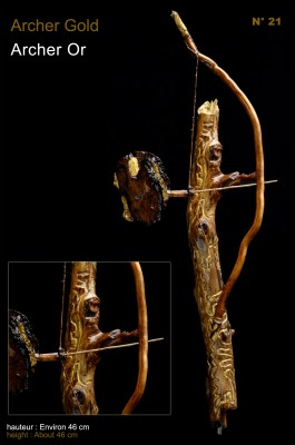Sculpture Archer Gold Archer Or