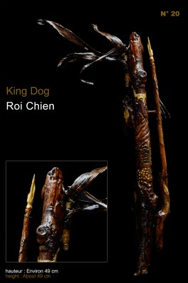 STATUETTE FIGURINE King Dog Roi Chien