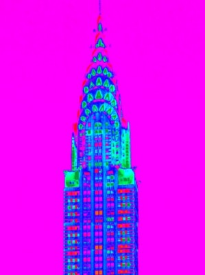 Colorful Chrysler Building