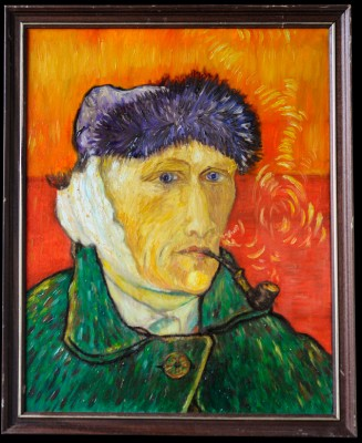 Van Gogh Self Portrait with Bandaged Ear (or The Man with a Pipe) Hand Painted Art Oil on canvas