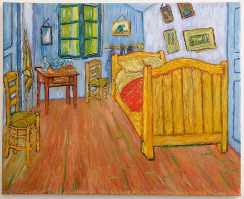 Van Gogh Bedroom in Arles version 1. Hand-Painted Art Reproduction with Oil on Canvas